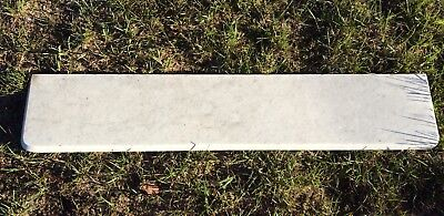 Antique White Marble Fireplace Mantel Top With Initials Engraved On Back!