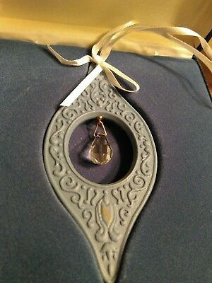 Wedgewood Millennium Gems Edition 1 Blue Jasperware Ornament w/ Crystal.