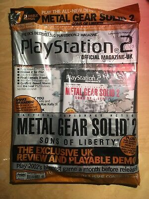 PLAYSTATION 2 MAGAZINE issue 17 Feb 2002 - Metal Gear Solid 2 Cover with demo