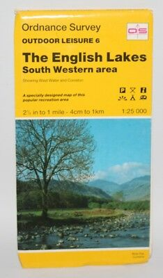 Ordnance Survey Outdoor Leisure Map - English Lakes, South Western Area - 1994