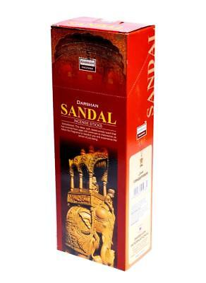 Darshan Sandal Incense Stick - Pack of 6 x 20 = 120 Sticks