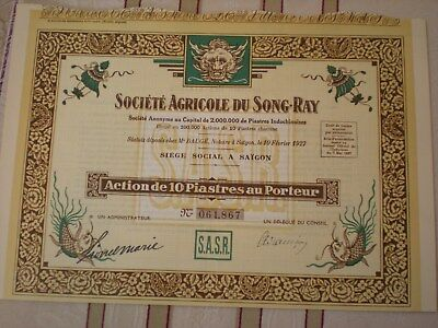 Indochina -  3  x  Societe Agricole du Song-Ray   7/24