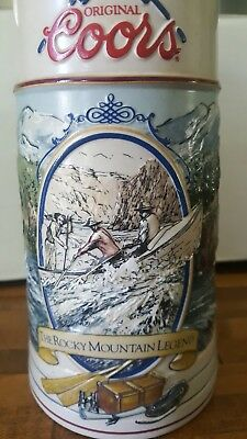 Coors The Rocky Mountain Legend Beer Stein