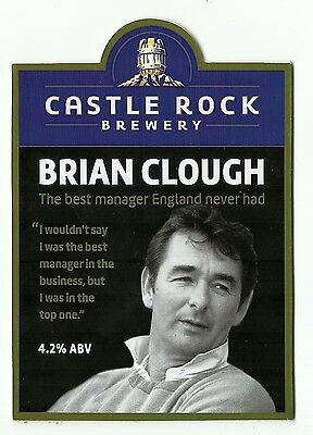 Castle Rock Brewery  BRIAN CLOUGH ALE Beer pump clip front very rare