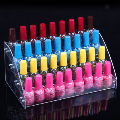 4 Tiers Clear Nail Polish Varnish Lipstick Makeup Display Rack Stand Holder