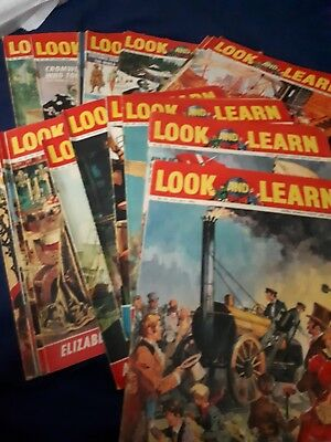 Look And Learn Magazines Issue 27 -52 Including Folder  Vintage