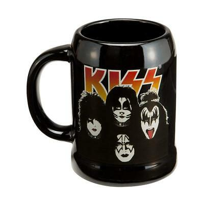 Kiss Rock Band 20 Ounce Ceramic Beer Stein Coffee Mug Cup Black