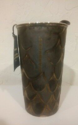 New Starbucks 2016 Anniversary Collection Golden Scales Travel Tumbler