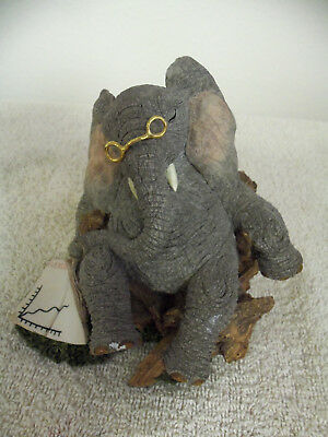 Tuskers Barclay Elephant Hand Painted Figurine - Reading The Tuskers Times