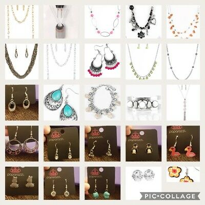 25 piece lot of mostly DISCONTINUED Paparazzi jewelry BNWT