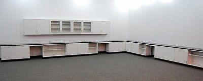 Fisher Hamilton 41'  Lab Cabinets & Casework W/ Glass Wall Units & Tops L016 3-