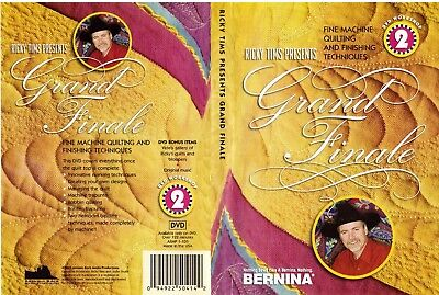 RICKY TIMS Workshop 2 GRAND FINALE fine quilting + finishing DVD 122 min english