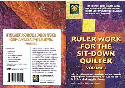 Patsy Thompson RULER WORK for the Sit-down Quilter Volume 1 DVD 111 min english