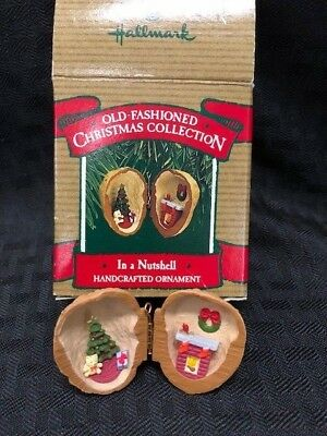 HALLMARK Old Fashioned IN A NUTSHELL Handcrafted Ornament 1987