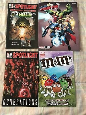 Lot From New York Comic-Con 2017 NYCC Official Program + M&M#1 Marvel Spotlights