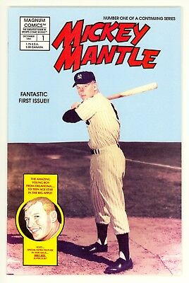 MICKEY MANTLE #1 (1991) Magnum Comic Book ~ MINT ~ Full Color ~ NY Yankees HOF