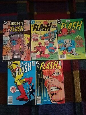 The Flash #338 339 346 348 350  NM/VF