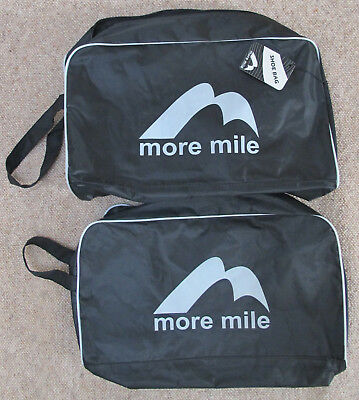 2 x More Mile Black Shoe Bags - One BNWT & One Used