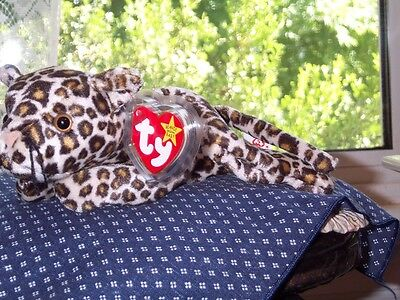 TY Beanie Baby Babies Cat Freckles Leopard 6-3-1996 retired mint with mint tags