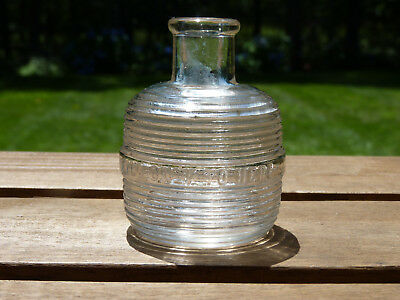 """Striped Ink Well Blown In A Mold Rare 3"""""""