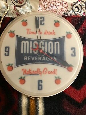 Mission soda pop clock by Neon Products Inc