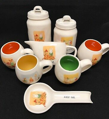 Rae Dunn HELLO FALL SWEATER WEATHER STAY COZY S'MORE PLEASE canister mug 8pc set