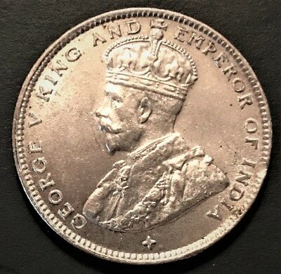 Straits Settlements 20 Cents 1919 Nice Uncirculated *awesome Coin*