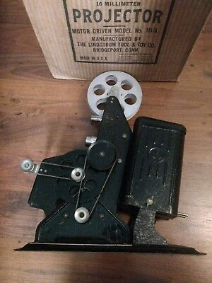 Vintage Lindstrom 16mm Projector 1017A Motor Driven Model. Parts, Decor, or Prop