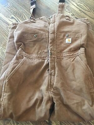EUC Women's 10 X 30 Carhartt For Women Insulated Overalls