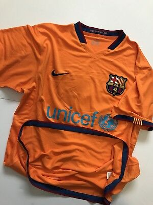 50aaa6098 FC BARCELONA NIKE Match Worn Player Issue Away 2007 08 Shirt ...