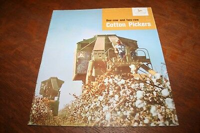John Deere One-Row and Two-Row Cotton Pickers 22 122 299 Brochure 1965!