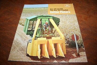 John Deere New 499 and 699 Two-Row Cotton Pickers Brochure 1968!