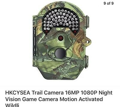HKCYSEA Trail Camera 16MP 1080P Night Vision Game Camera Motion Activated Wildli