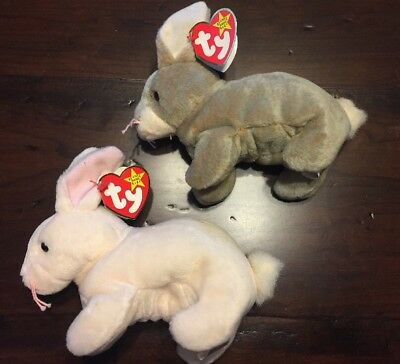 Nibbler & Nibbly Combo Ty Beanie Baby Retired Vintage 1998 Rare! W/ Errors.
