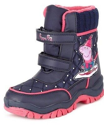 Kids' Peppa Pig Riptape Snow Waterproof Boots with Thinsulate™