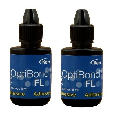 Kerr Optibond FL Adhesive 35266, Dental Bonding Agent 8 ml (Pack of 2) Exp 3/19
