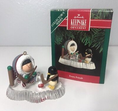 1991 Hallmark Keepsake Ornament Frosty Friends #12 Penguin Hockey Polar Chill