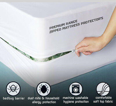 Bed Bug Matress Protector Cover Allergy Mattress Topper Dust Mites Pad Bedding