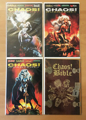 CHAOS 16 comic lot QUARTERLY 1 2 3 Bible 1 HOMICIDE Vexed BEDLAM Bible AFTERMATH