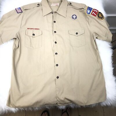 Boy Scouts Of America Mens Shirt UNIFORM 2XL XXL DEN LEADER COACH GUC