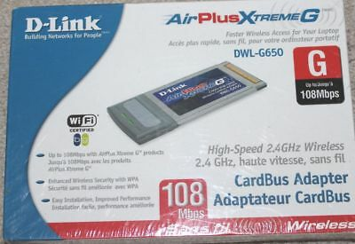 DRIVER FOR D-LINK AIRPLUS XTREME G DWL-G650