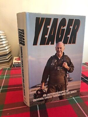 Yeager: An Autobiography HAND SIGNED by Chuck Yeager Sound Barrier! RARE Bell X1