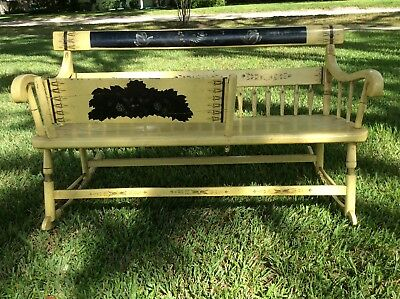 American antique rocking Mammy bench