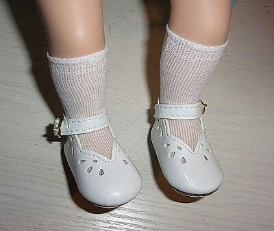 "Fancy White Mary-Jane Shoes/socks Fit 14"" My Twinn Cuddly Sisters Dolls"