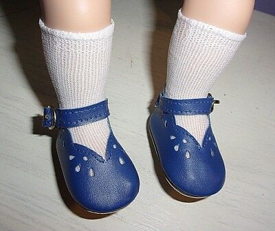 "Fancy Blue Mary-Jane Shoes/socks Fit 14"" My Twinn Cuddly Sisters Dolls"