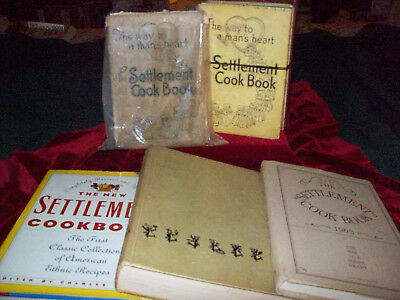 Lot of 6 Cookbooks Settlement Old/New/Reproduction HB 1991 1946 + Century 1894