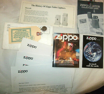 Lot Zippo Advertising, Zippo 96 Collection,collector Guide, In Touch With Earth,