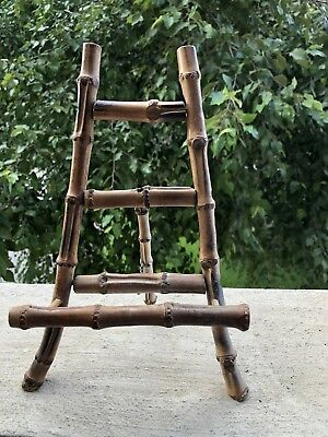 Vintage Chinoiserie Bamboo Large Easel Display Stand