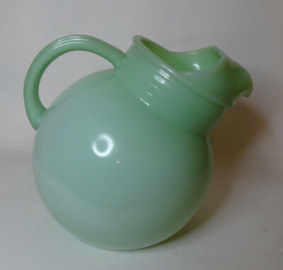 Vintage Hocking Fireking Jadite Hard To Find Ball Jug