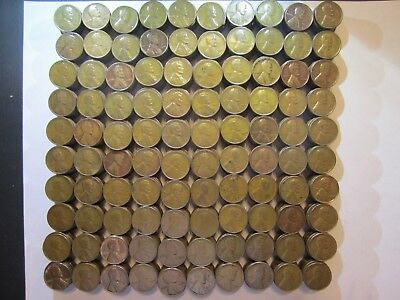 Misc Lot of 1000 Wheat Pennies P-D-S from Teen's 20's 30's 40's and 50's Plus Ex